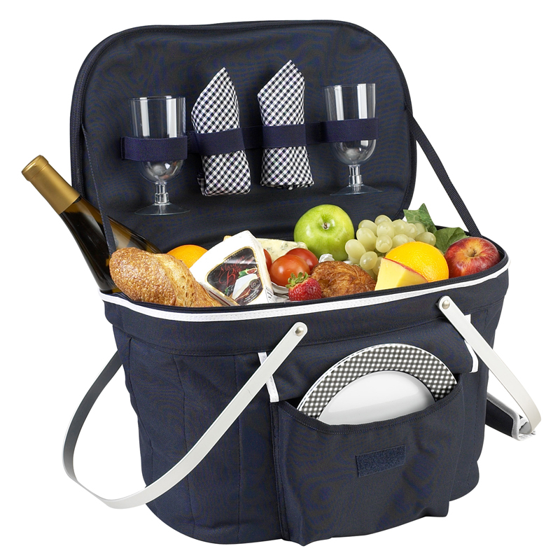 Collapsible Insulated Picnic Basket for Two