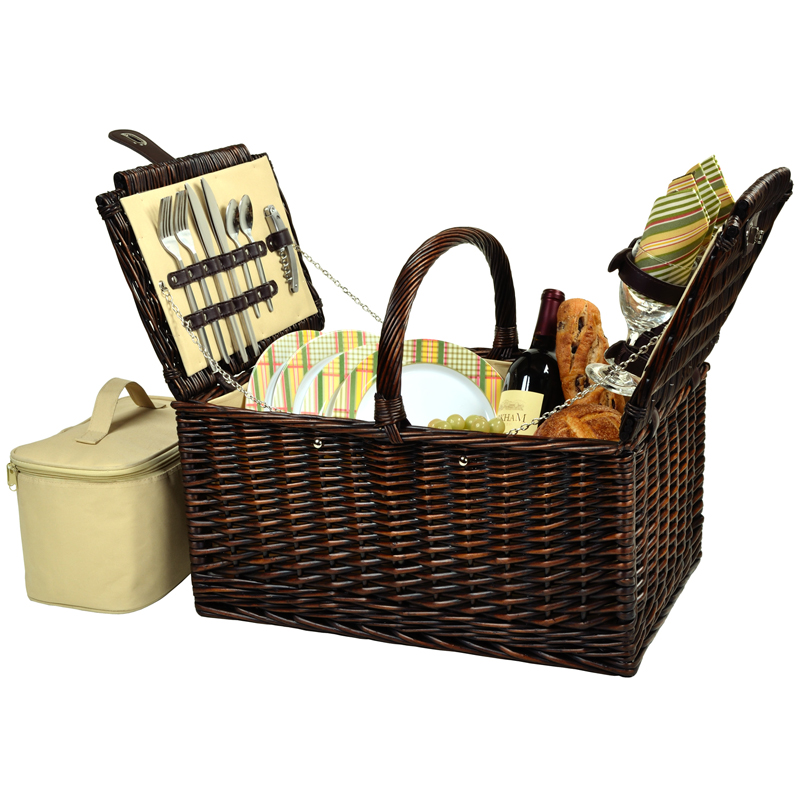 Buckingham Picnic Basket for Four
