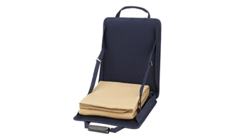 Stadium Seat with Tan Blanket