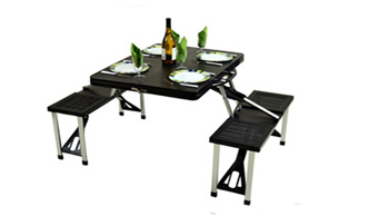 Folding Picnic Table with Seats