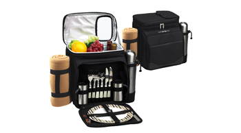 Picnic Cooler for Two with Blanket & Coffee Service