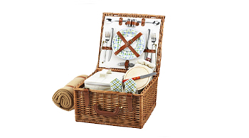 Cheshire Picnic Basket for Two with Blanket