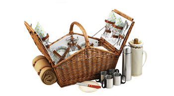 Huntsman Basket for 4 w/coffee set & blanket