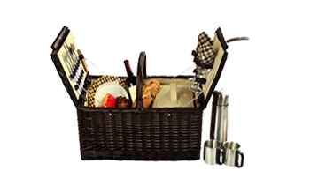 Surrey Picnic Basket for 2 w/Coffee