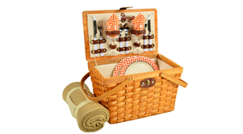 Frisco Picnic Basket For Two With Blanket