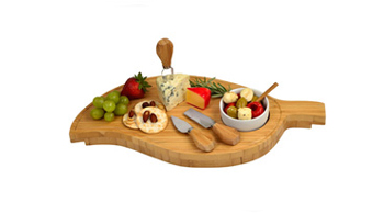 Leaf Cheese Board with Bowl