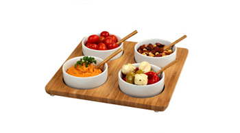 Four Bowl Square Serving Platter